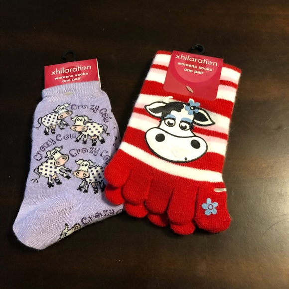 697c5744c28ed Xhilaration Accessories | Bundle Of Two Cow Socks | Poshmark